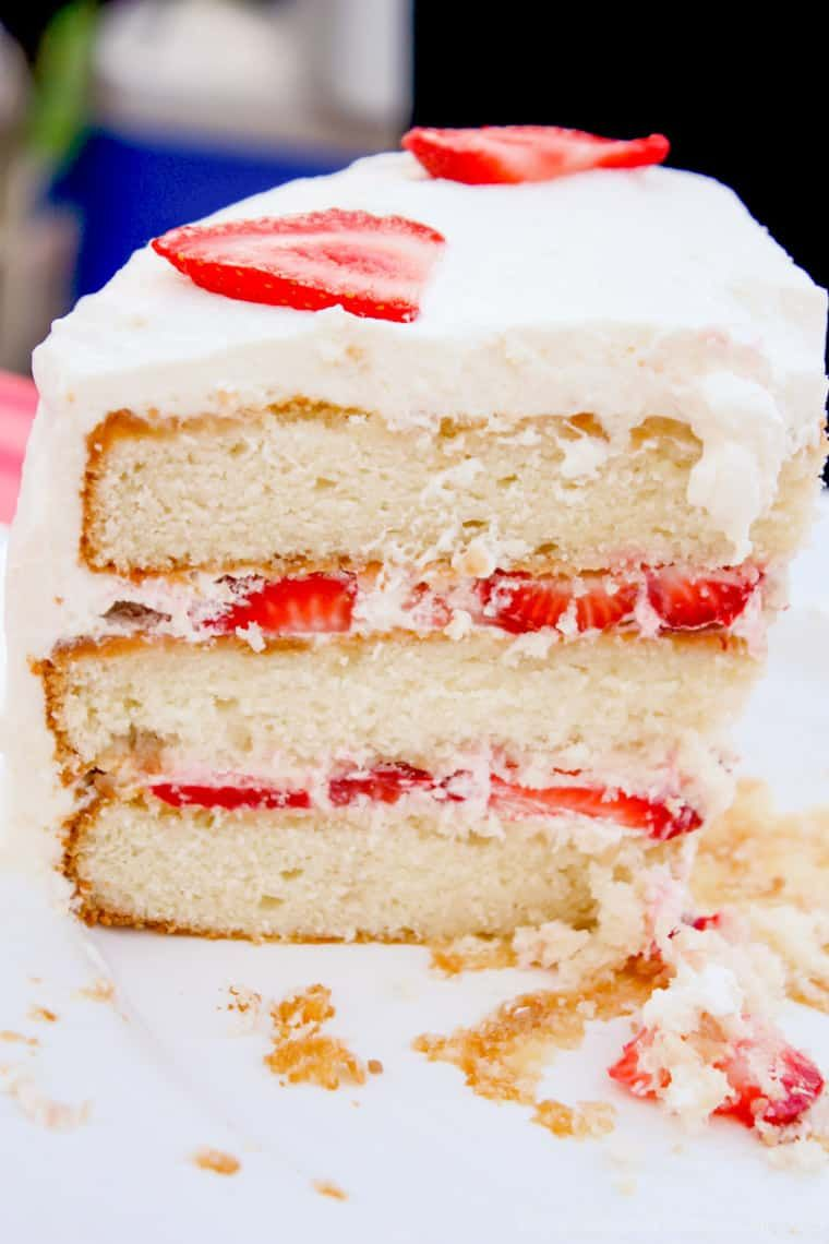 Strawberries and Cream Cake the classic combination of