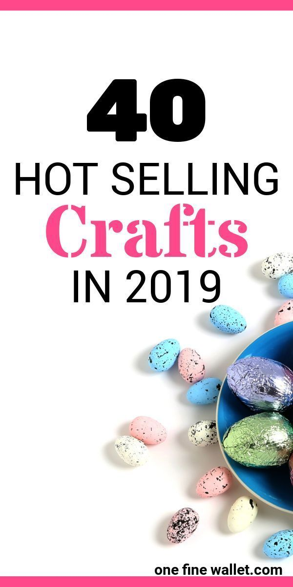 Here are over 40 crafts that will help you make money from home. Perfect online business idea for stay at home moms.
