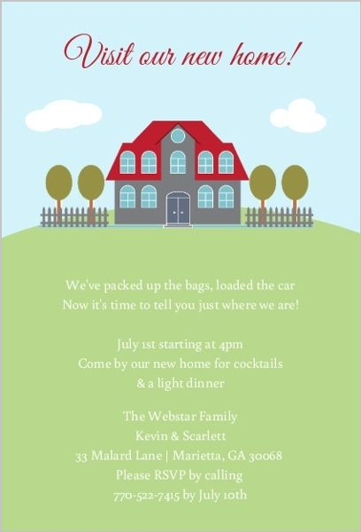 Classic Home Housewarming Party Invitation