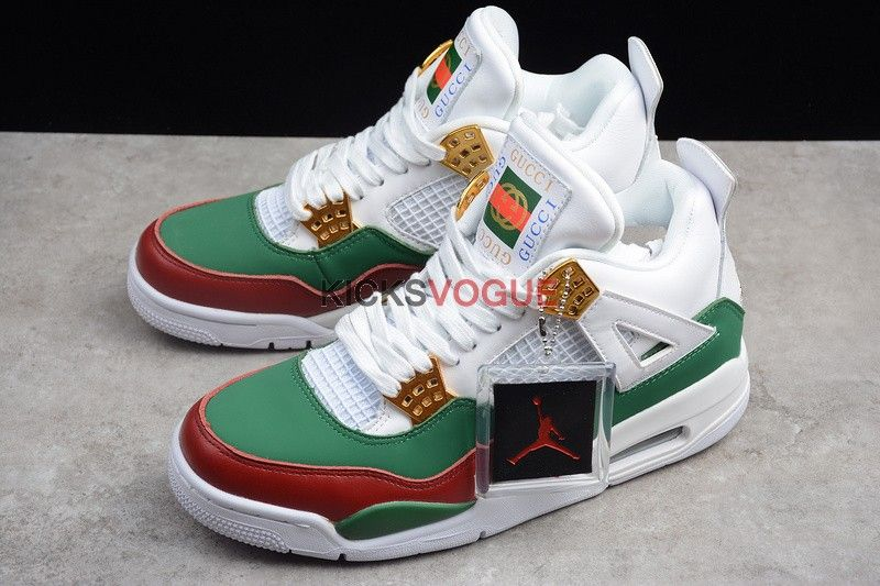 "finest selection 4f597 3aaaa Air Jordan 4 ""Gucci"" Customs - Air Jordan"