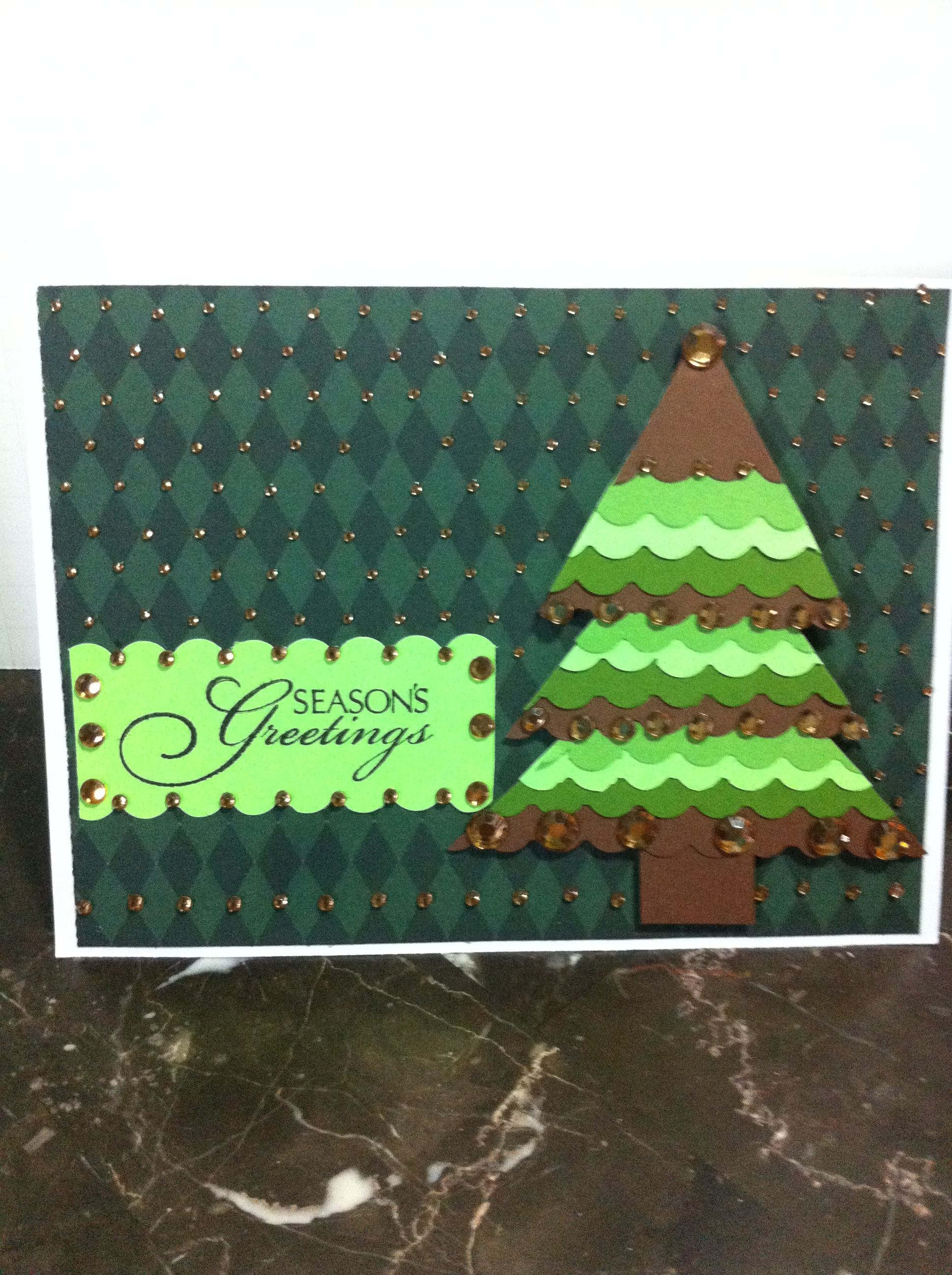 Done with Dye cuts and and cardstock. | Christmas Cards | Pinterest ...