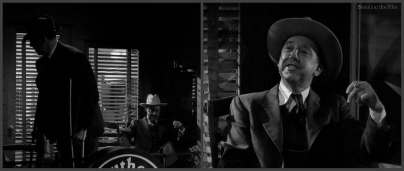 Double Indemnity: Porter Hall and Fred MacMurray