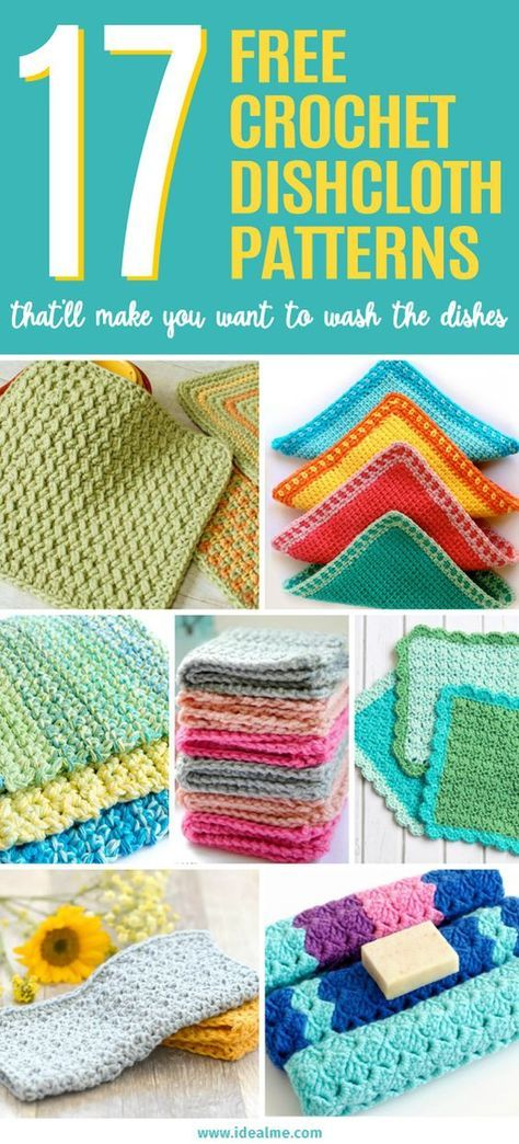17 Free Crochet Dishcloth Patterns That\'ll Make You Want to Wash the ...
