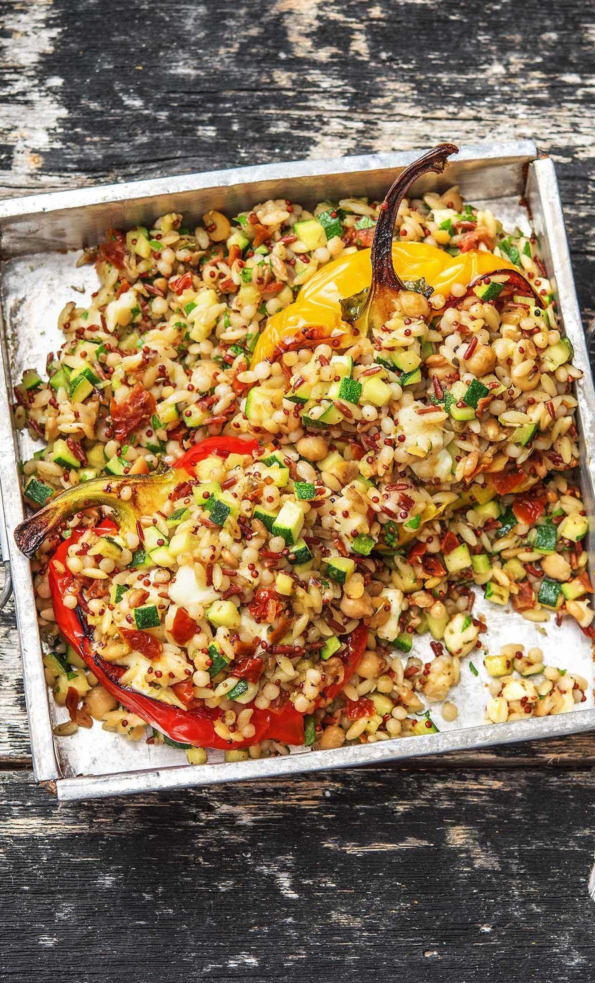 Golden Grain Stuffed Peppers Recipe Hellofresh Recipe Stuffed Peppers Hello Fresh Recipes Vegetarian Recipes