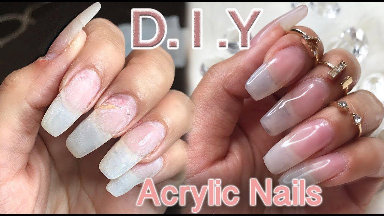 Diy How I Do My Natural Looking Acrylic Nails Lilybetzabee Natural Looking Acrylic Nails Diy Acrylic Nails Nails