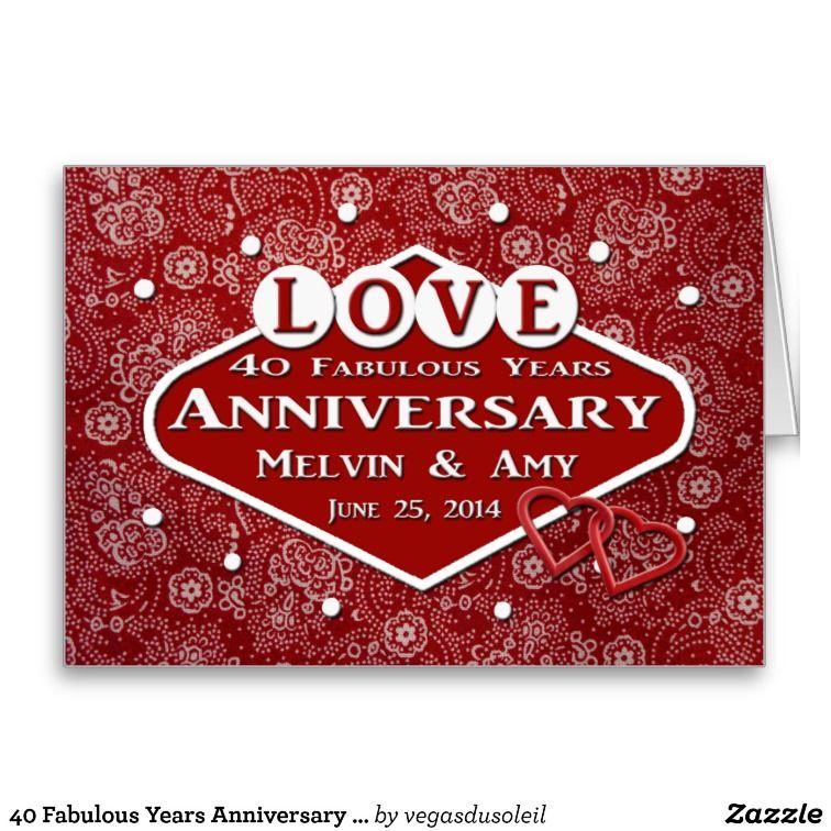 40 Fabulous Years Anniversary Card