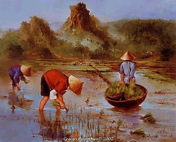 Georges corominas galerie virtuelle reproduction for Paysage asiatique peinture