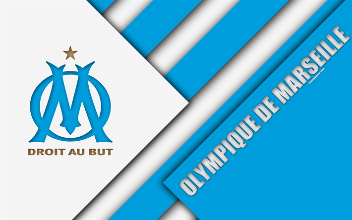 футбол 1 Wallpaper: Download Wallpapers Olympique De Marseille, 4k, Material