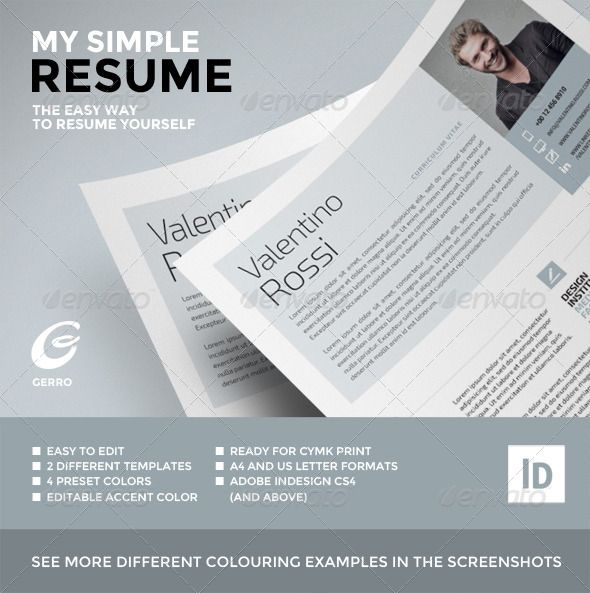 My Simple Resume | Simple resume, Print templates and Font logo