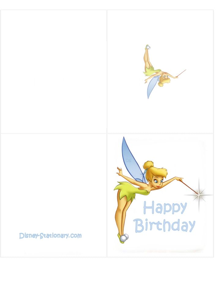 Tinkerbell Birthday Card 719x959 Happy Google