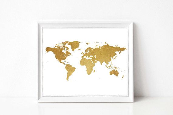 Gold foil map print gold world map art gold map print gold office gold foil map print gold world map art gold map print gold office gold nursery print gold art map printable digital file only gumiabroncs Image collections