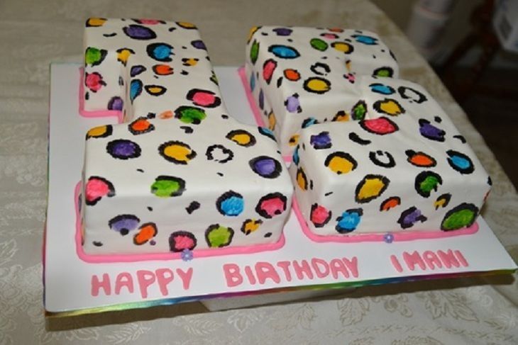 Alphabet cake 15th birthday cake