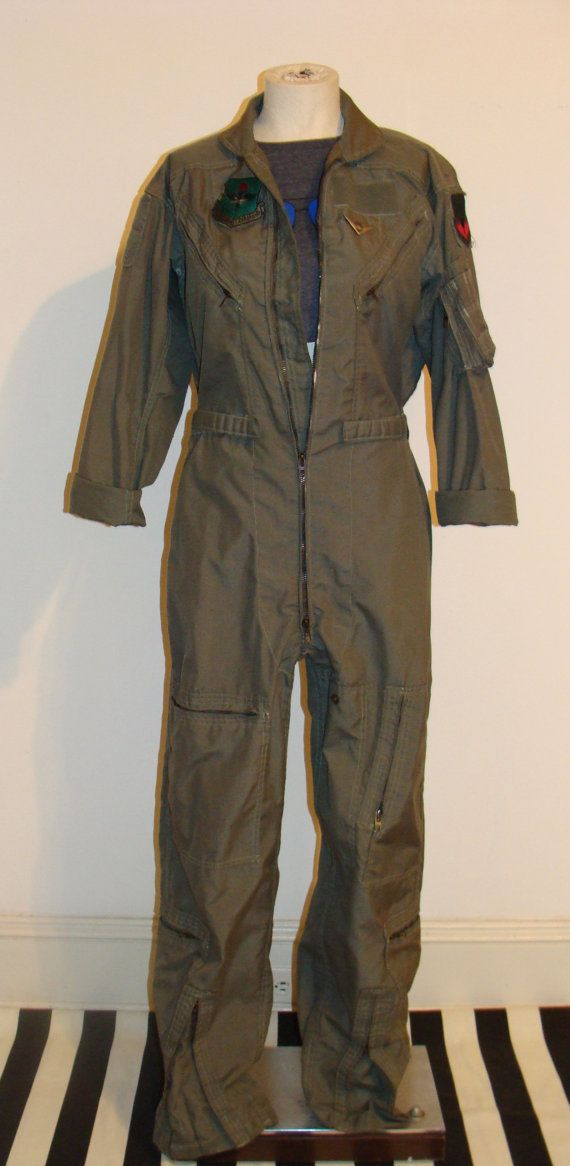 f2280d24195 SMALL Military Issue Flight Suit Army Green Coveralls by studio180 ...