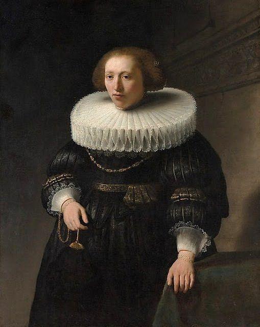 RUFF--1632 Rembrandt Harmenszoon van Rijn (1606-1669) Portrait of a Woman, probably a Member of the Van Beresteyn Family