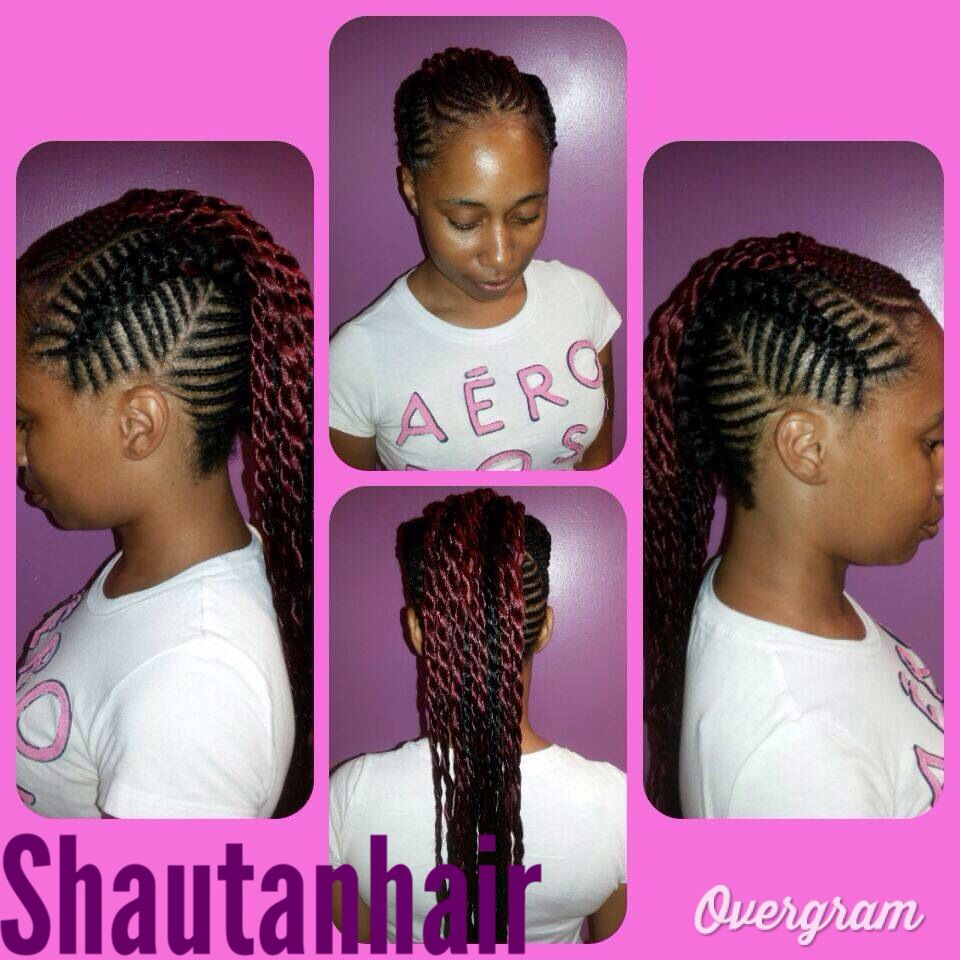 Goddess braids into a mohawk with twist hairstyles pinterest