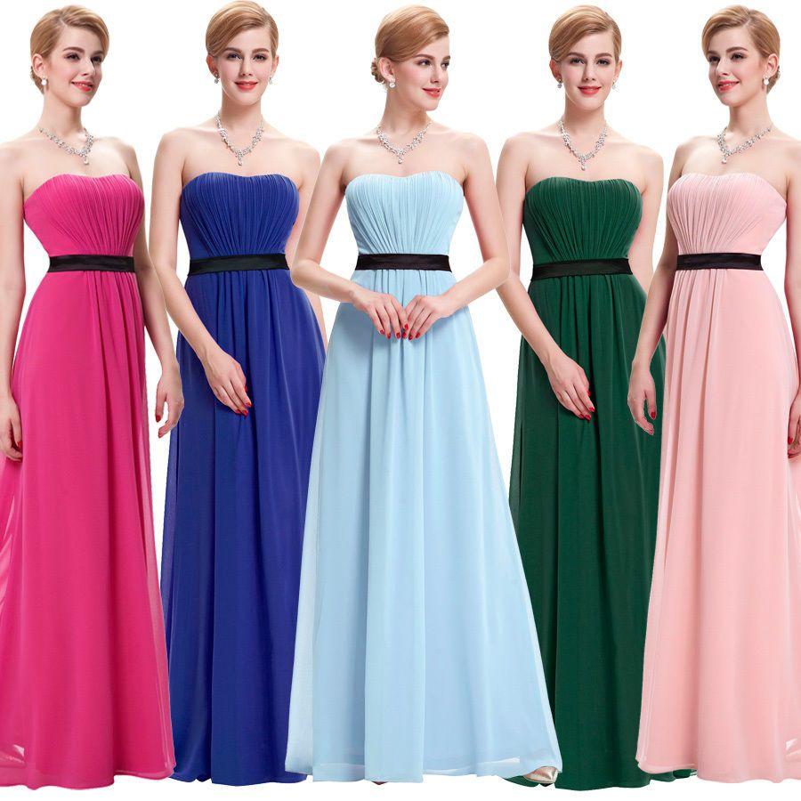 Mujeres Larga Chiffon Noche Formal Fiesta Ball Gown Prom Dama Vestido De Novia in Ropa, calzado y accesorios, Ropa para mujer, Vestidos | eBay