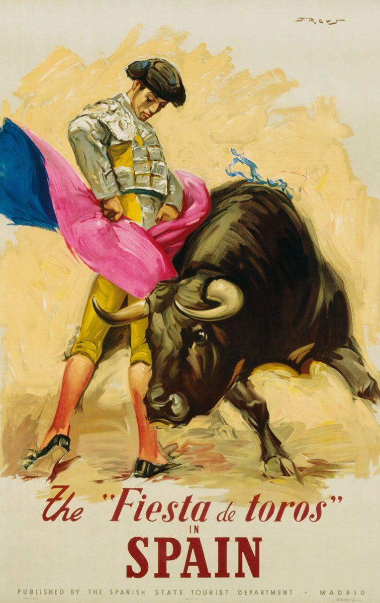 Clichés a la española. En 1950, en plena dictadura, la Dirección General de Turismo proyectaba una imagen de España de lo más Astérix y Obélix: el cliché del toro como Fiesta Nacional y foco de atracción de turistas.