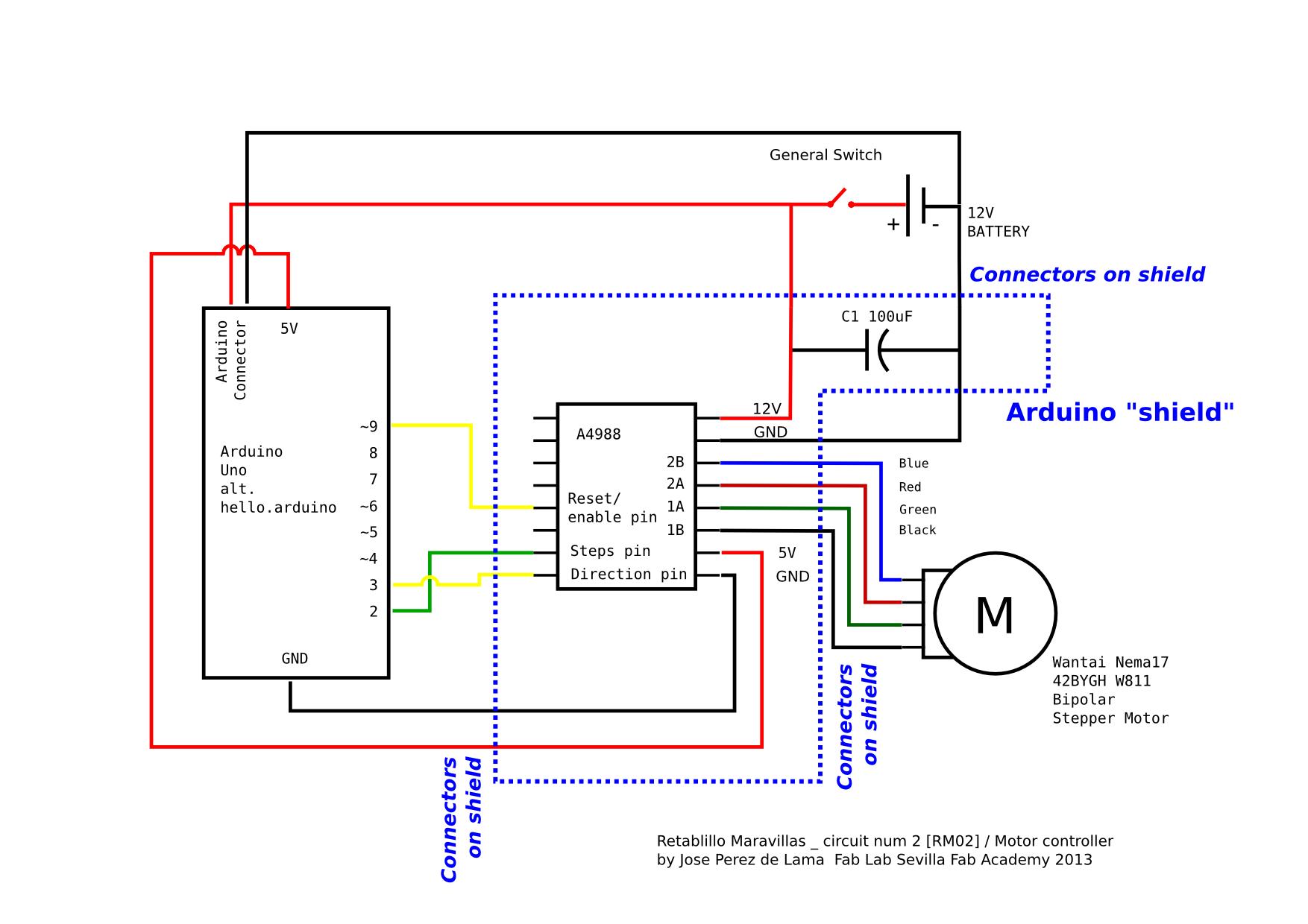 Wiring Diagram Of Stepper Motor