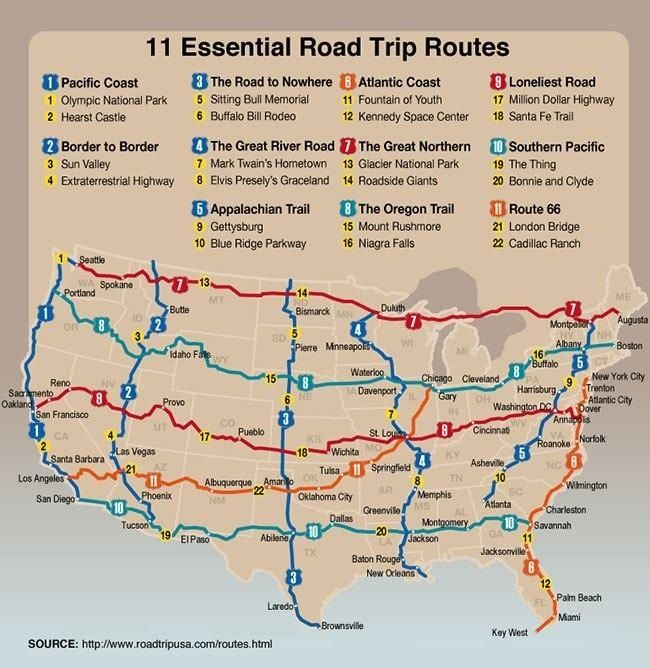 Road trip map Travel US Pinterest Road trip map Road trips