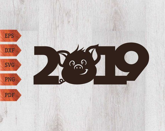 Pig 2019 Svg Symbol Of The Year 2019 Pig Christmas Pig Clipart Pig