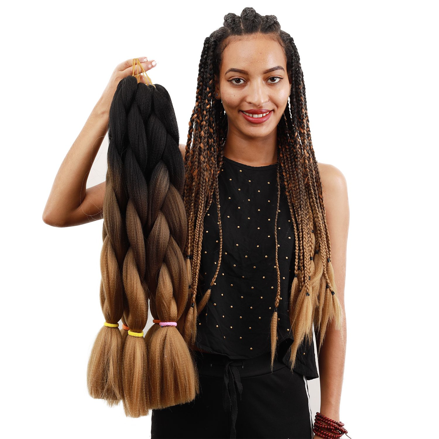 24 Inches Xpression Ombre Braiding Hair in 2020 Braided