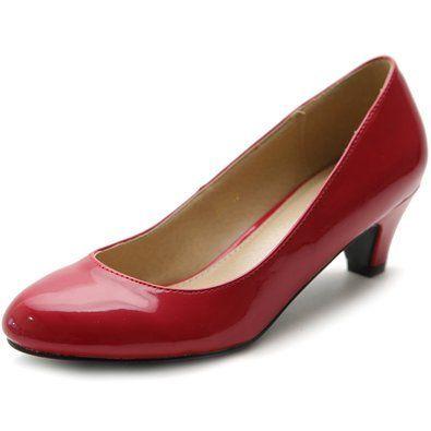 Ollio Women's Shoe Classic Mid Heel from Amazon
