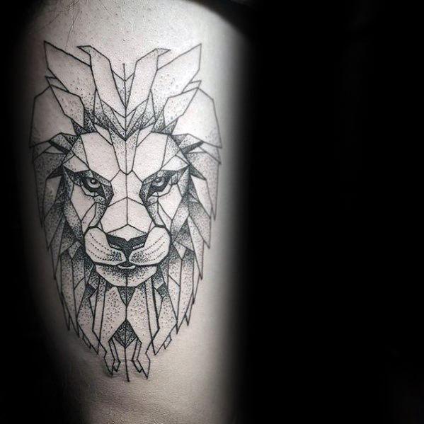Top 57 Geometric Lion Tattoo Ideas 2020 Inspiration Guide Geometric Lion Tattoo Geometric Lion Lion Tattoo Design
