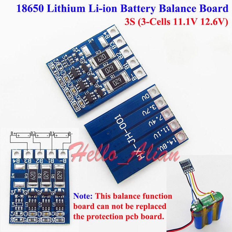 3s 11 1v 12 6v 18650 Li Ion Lithium Battery Charger Module Balance Board 3s New Lithium Battery Charger Lithium Battery Electronics Basics