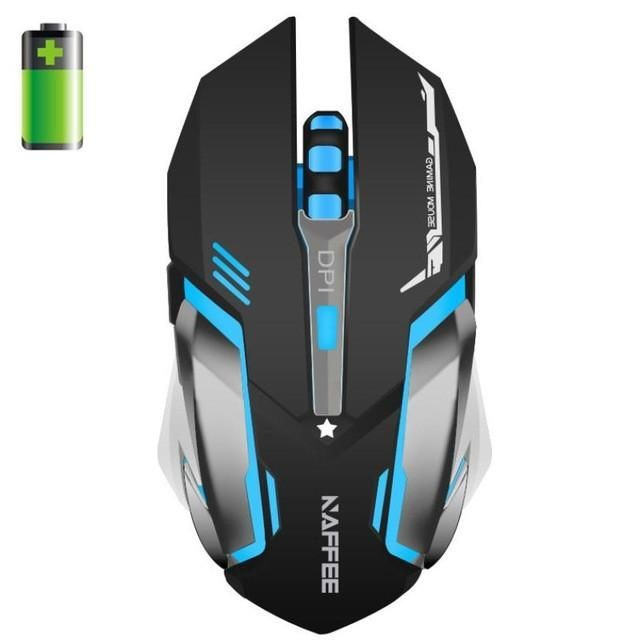 RAJFOO 4 Colors Gaming Mouse Ajustable 3200DPI 6 Buttons Optical Macro USB Mouse