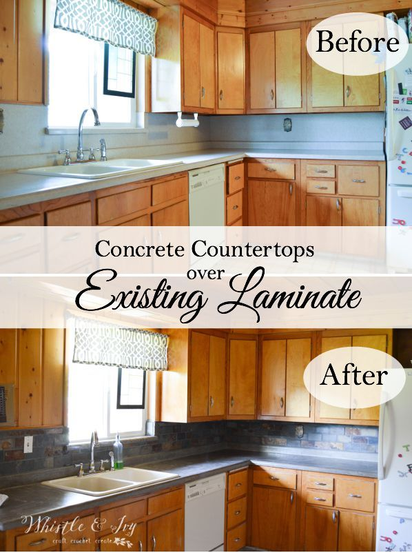 Concrete Countertops Without Ripping Out Your Laminate Diy