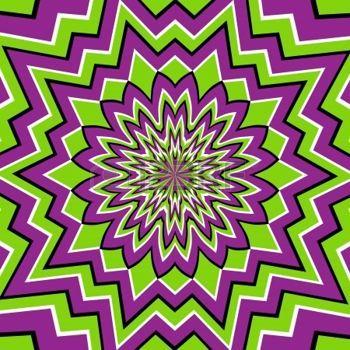 Papier peint psych d lique illusion d 39 optique hypnose pinterest il - Papier peint psychedelique ...