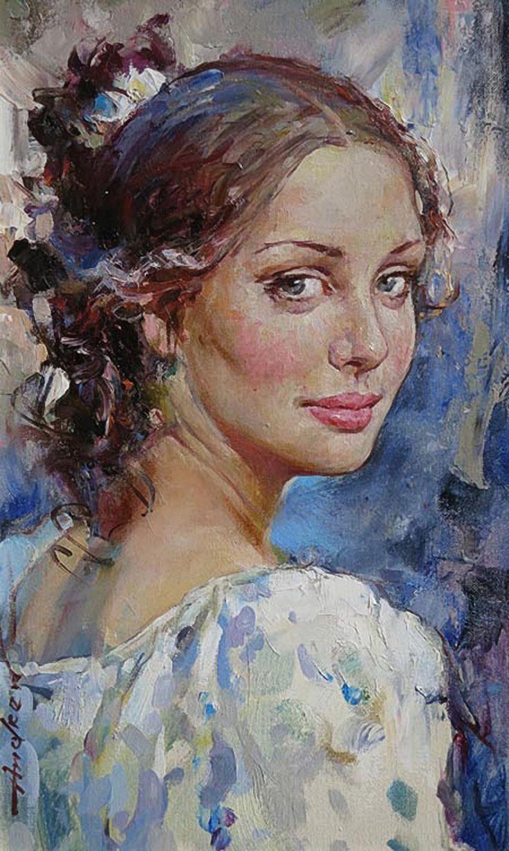 """The Glance"" - Andrew Atroshenko (b. 1965), oil on canvas ..."