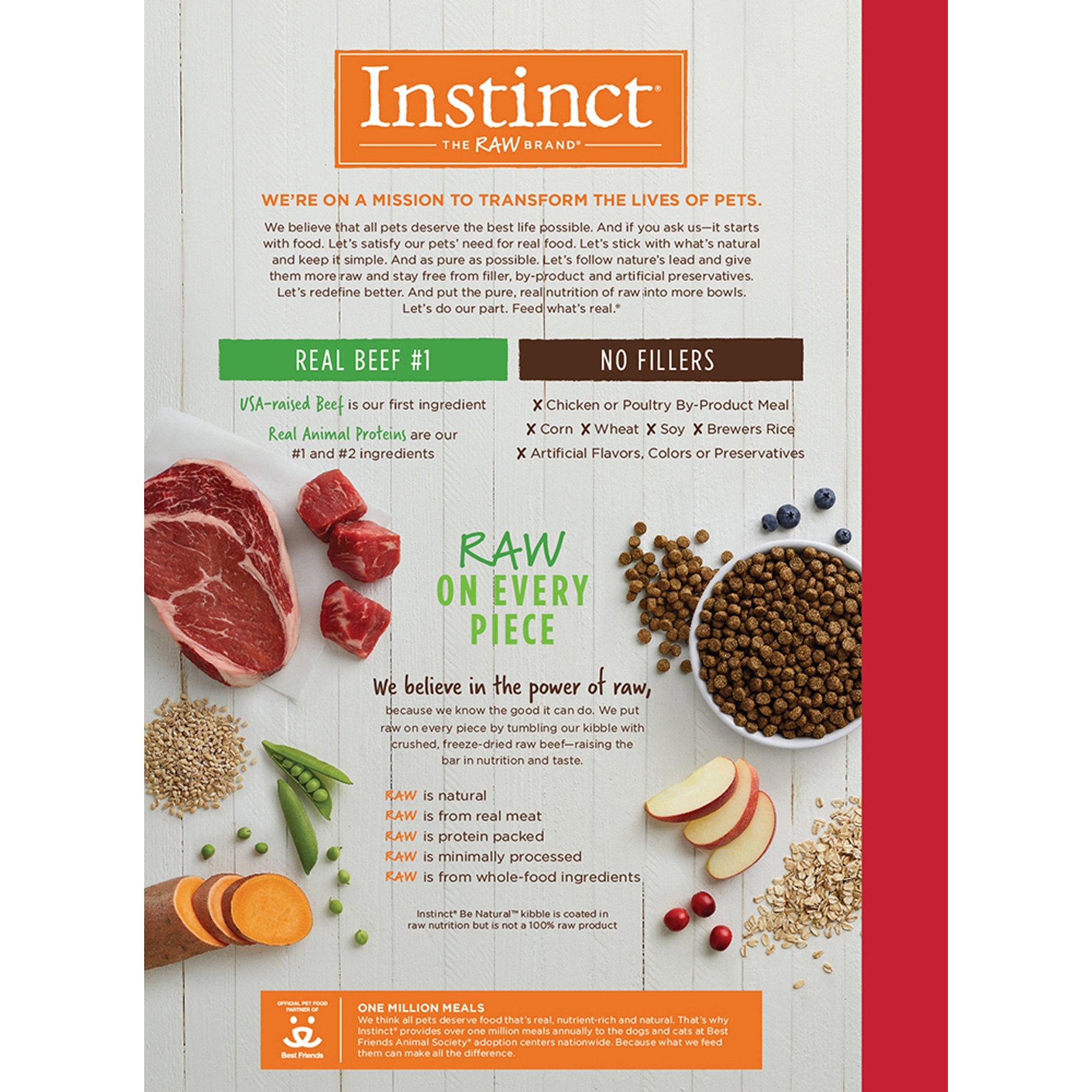 Instinct Be Natural Real Beef Barley Recipe Natural Dry Dog Food