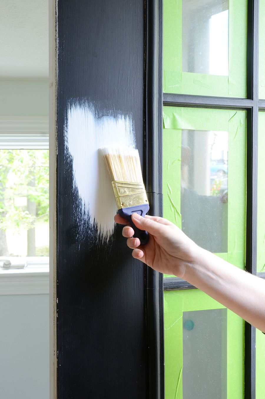 exterior paint primer tips deck how to paint an exterior door coat of white primer house painting tips painted front to paint door diy dcor ideas pinterest doors