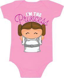 I/'m the Princess Baby Girl Romper STAR WARS Cute Princess Leia Baby Bodysuit