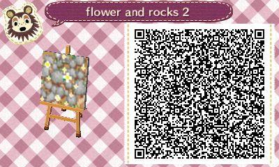Flowers Dirt And Rocks Path Animal Crossing New Leaf Qr Code