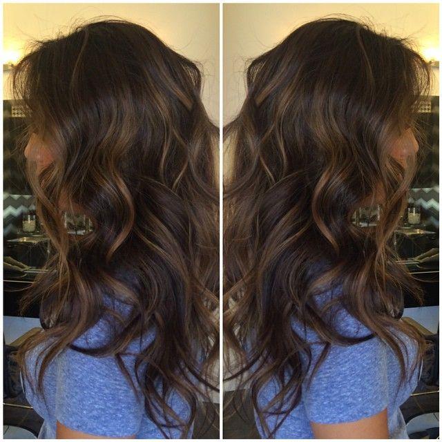 Dark Brown With Soft Highlights Hair Pinterest Dark Brown