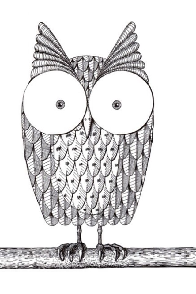 Owl Sketch Reminds Me Of The Tootsie Roll Pops Commercial