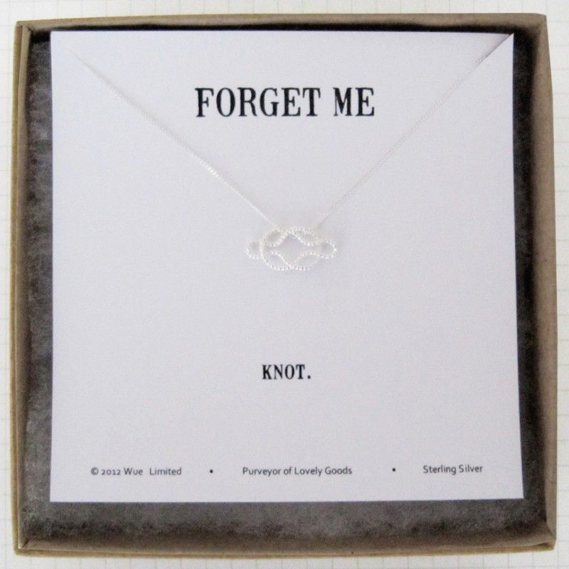 forget me knot'sterling silver necklace