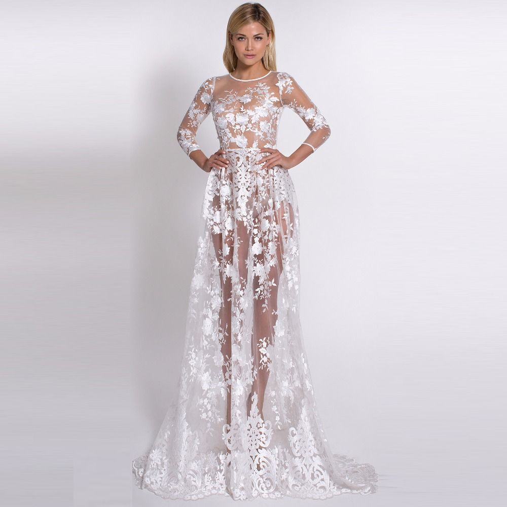 Find more prom dresses information about sexy white appliques