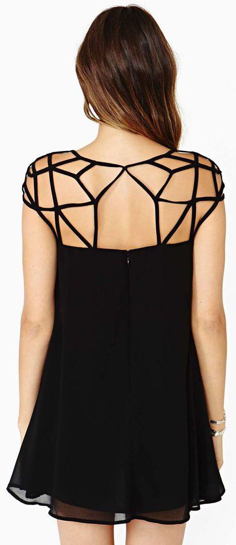 Cool Cage Neck Dress #LBD