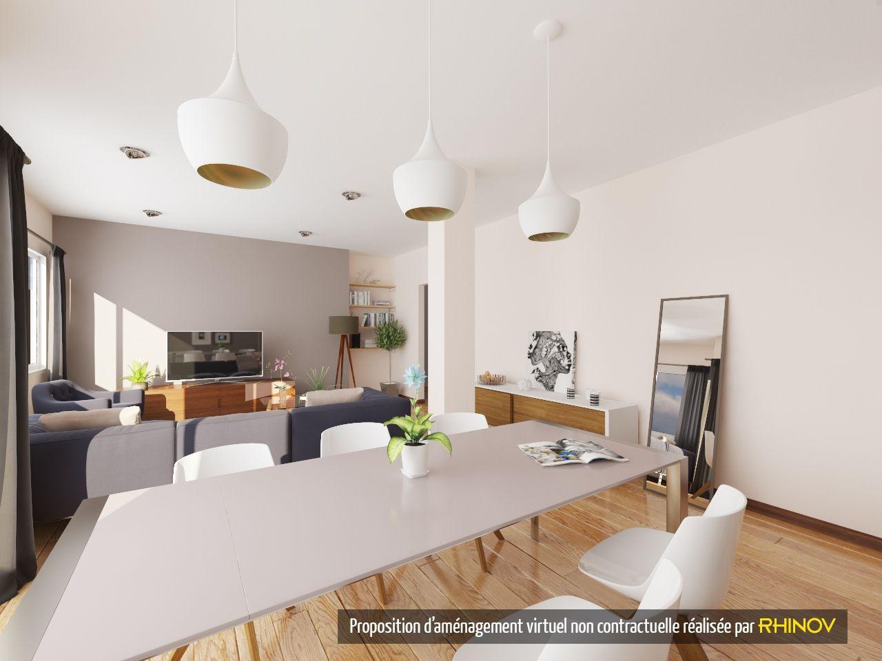 Prestation rhinov visuel 3d salle manger scandinave cocooning pro - Salle a manger cocooning ...