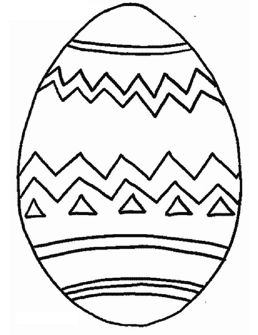 Easter Pattern Eggs coloring page for kids, easter