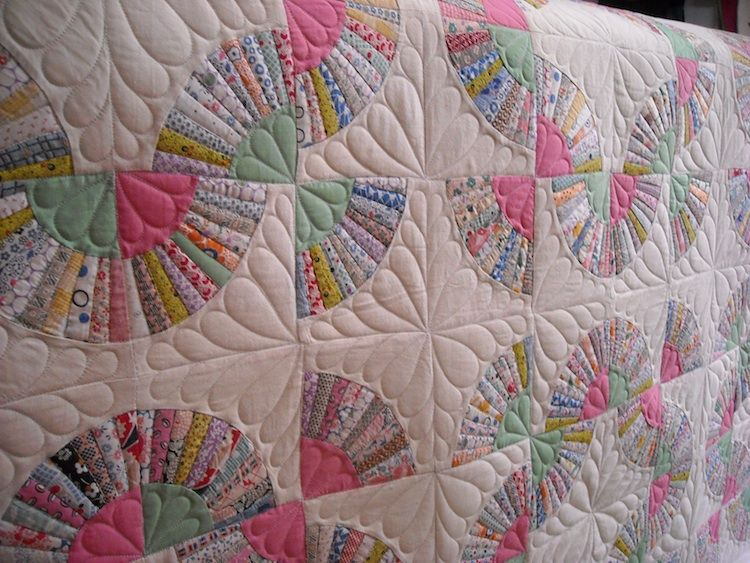 The Perkins Fans | Kansas, Quilt design and Fans : quilt designs for machine quilting - Adamdwight.com