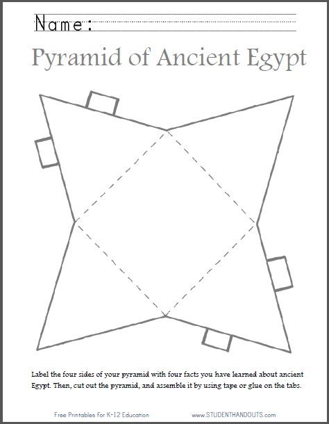 DIY Ancient Egyptian Pyramid - Template to Cut Out | Student Handouts