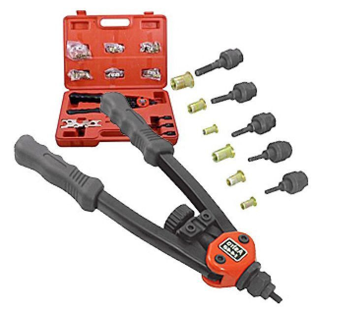Rivet Rivits Riviter Hand Tool Set Nut Gun Kit Rivit Riveter Metal