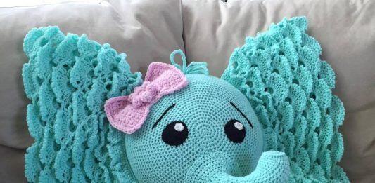 Crochet Puff Flower Blanket Pattern And Free Chart Elephant Pillow