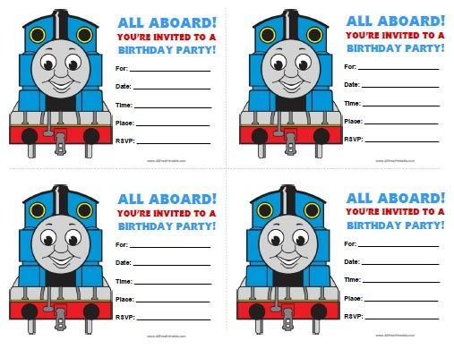 Free Printable Thomas and Friends Birthday Invitations Tylers 3