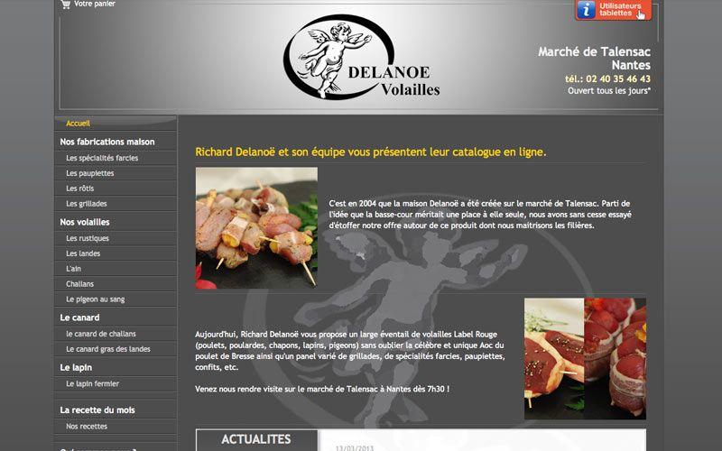 Site Web Du Volaillier Richard Delanoe Volailles Et Traiteur A Nantes Www Volailler Delanoe Fr Paupiette Traiteur Nantes