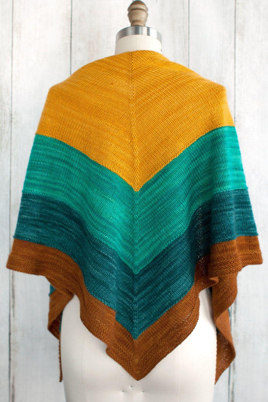 Islamorada Shawl Free Knitting Pattern | Shawl, Knit patterns and ...